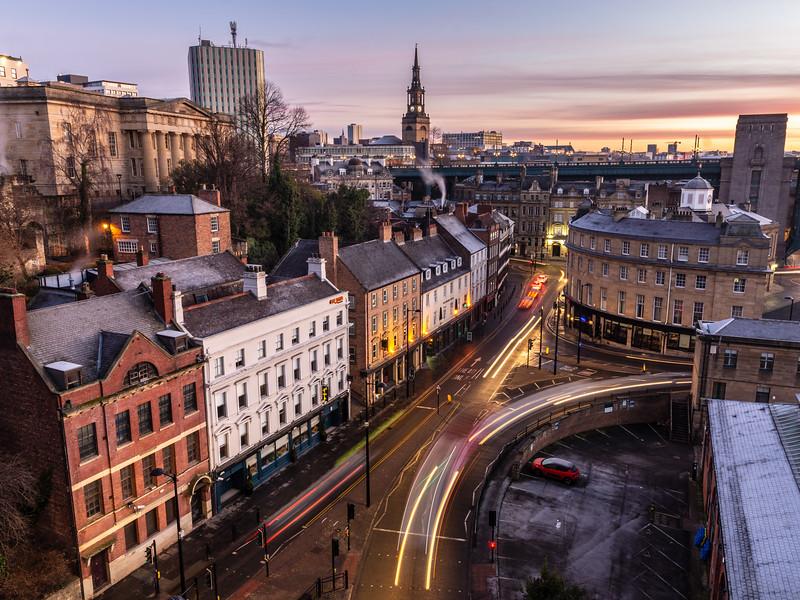Newcastle dawn rush hour