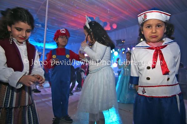 MOROCCO, Casablanca. Purim party, Chabad-Lubavitch of Casablanca (3.2015)