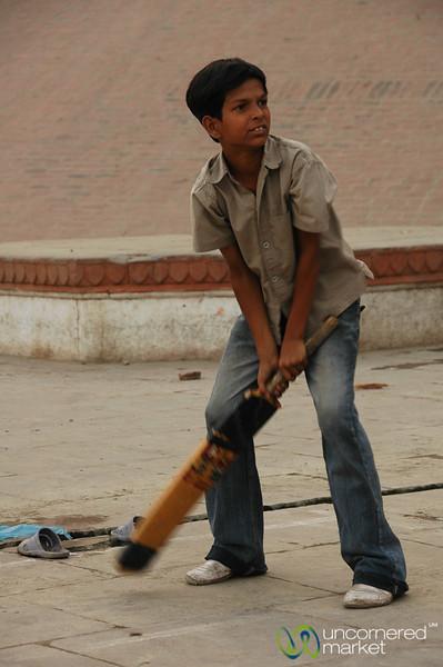 Cricket Along the Ghats - Varanasi, India