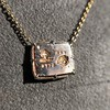 'For You I Live' 18kt Rose Gold Cast Rebus Pendant, by Seal & Scribe 21