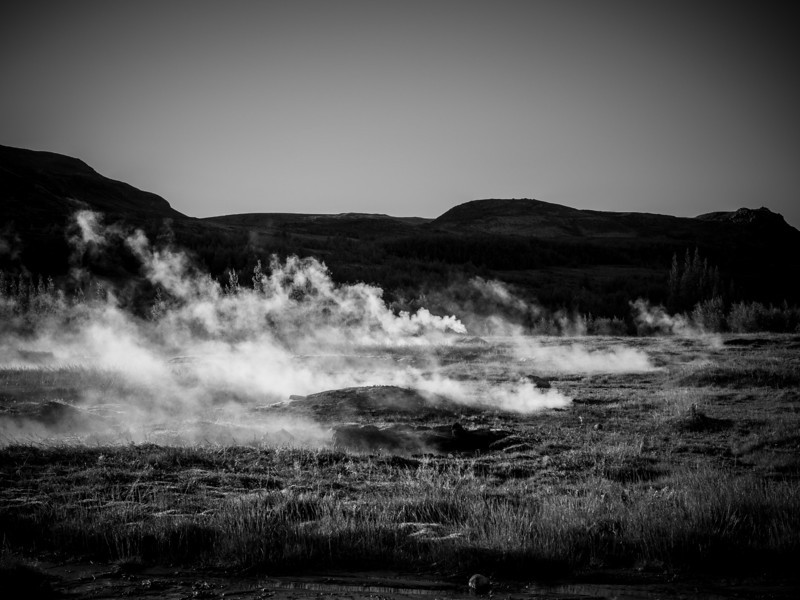 Geothermal fields at Geysir