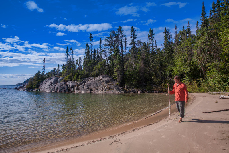 Walking the beaches of Pukaskwa National Park