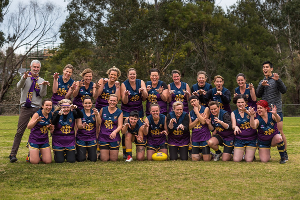 Melbourne Lions AFL Masters Football Club 2018 Women's Team Photos