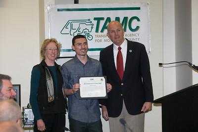 CSUMB TAMC Student getting award 1-22-14