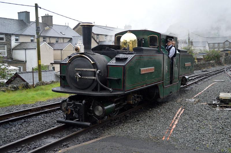 0-4-4-0T 'Earl of Merioneth/Iarll Meirionnydd' at Ffestiniog on The Ffestiniog Railway  22/08/15.