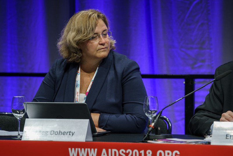 22nd International AIDS Conference (AIDS 2018) Amsterdam, Netherlands.   Copyright: Matthijs Immink/IAS  It's time to test and treat differently: Comparing and contrasting differentiated service delivery along the HIV care cascade from countries and communities  Photo shows: