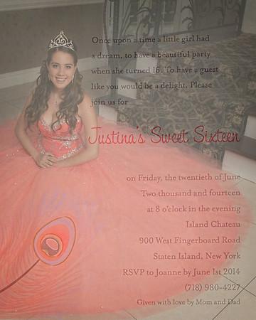 Justina's Sweet 16  6/1/14