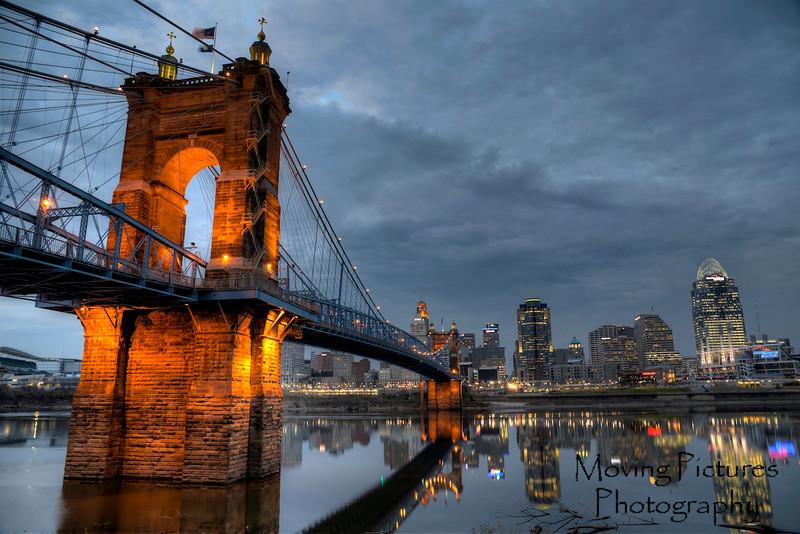Roebling Suspension Bridge - early evening