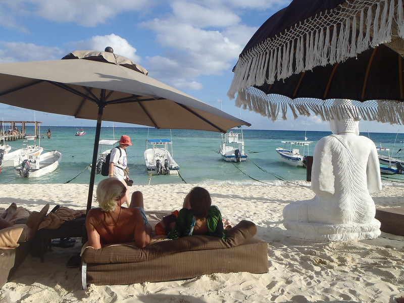 . The beach next to the El Taj hotel in Playa del Carmen, Mexico.   (Kyle Wagner/Special to the Denver Post)
