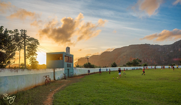 Exercising With A Sunset (2). Viñales, Cuba
