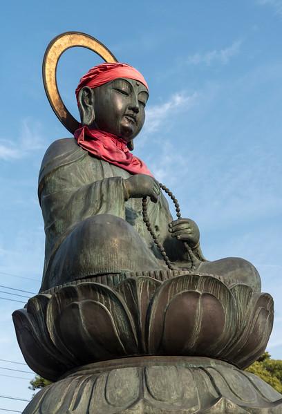 Bronze Rokujizo (Roku Jizo or Ksitigrabha) statue at Zenko-ji Temple, Nagano, Japan