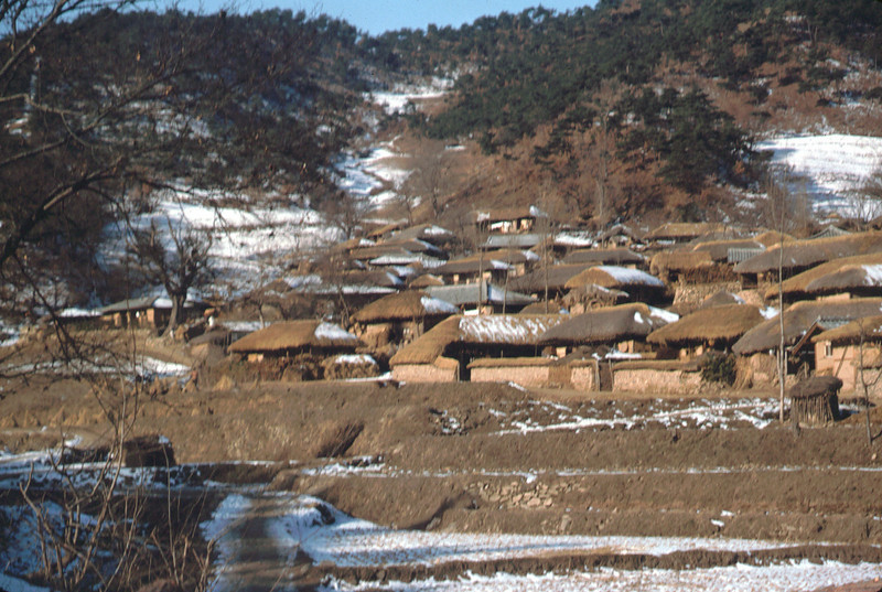 Korean village on the way to A Battery.