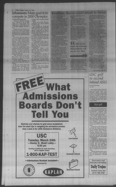 Daily Trojan, Vol. 133, No. 43, March 24, 1998