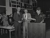 Mayor Hudnut at IPD Quarterly Awards, September 15, 1983, Img. 15, with Joseph McAtee
