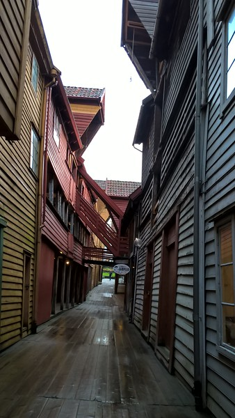 Bryggen's alleyways are filled with craft shops and artists.