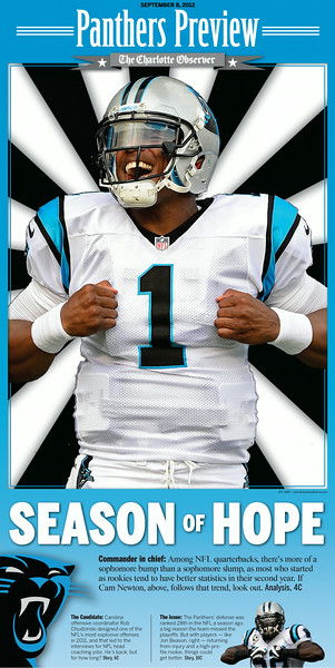 Panthers preview section cover published in The Charlotte Observer