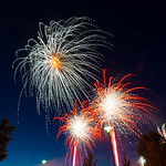 Fireworks at University of Halle, Germany