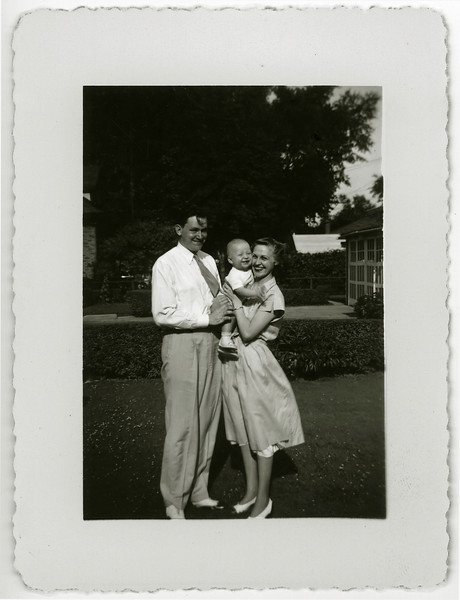Mom, Dad, me. Evanston, Illinois, and the dawning of the 50s.
