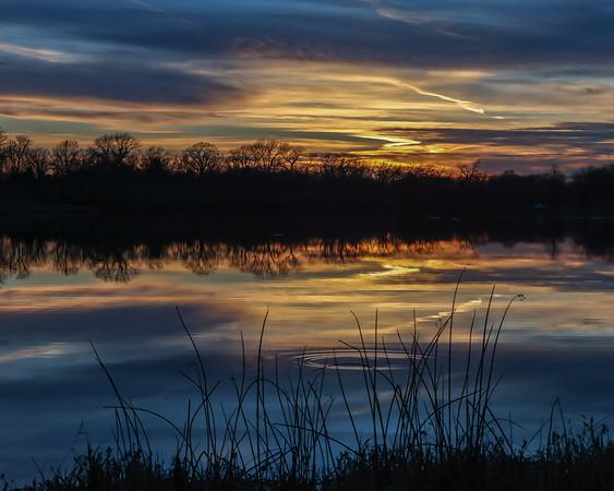 Cedar Lake sunset 2020