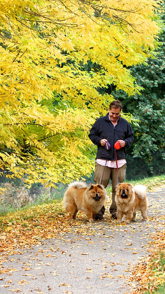 A WALK IN WASHINGTON PARK, 10-28-11  Steve and his girls!