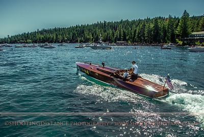 T-44 streaks onto the open water, 2011 Concours d'Elegance, Lake Tahoe