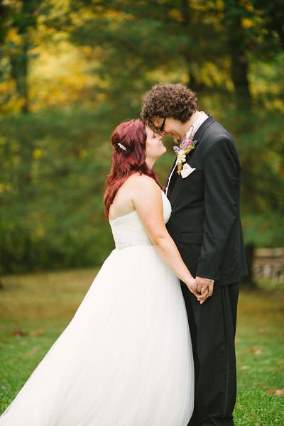 Autumn wedding at Kilbuck Creek near Rockford, IL. Wedding photographer - Ryan Davis Photography
