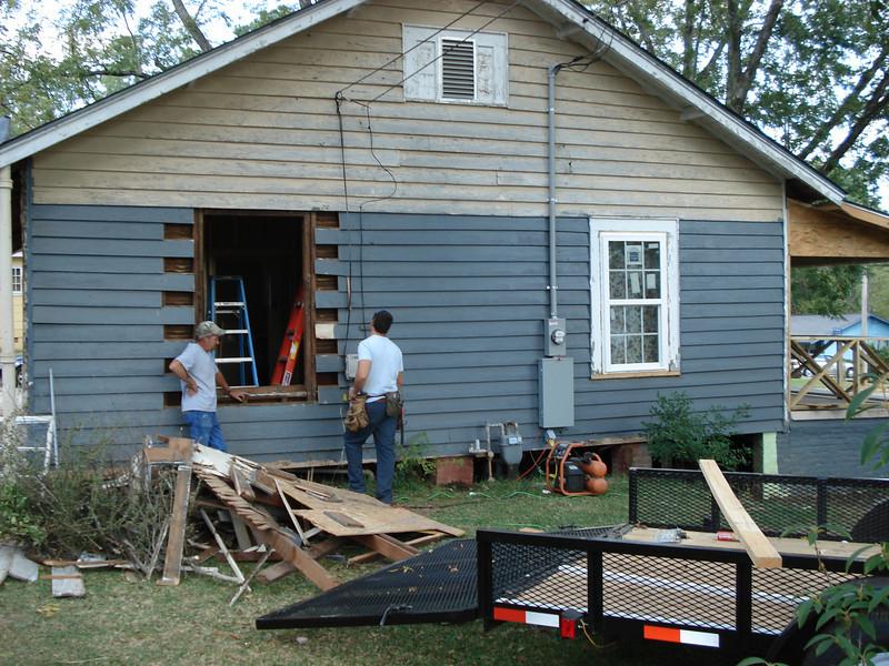 Window installation preparation. ck