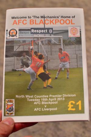 AFC Blackpool (a) L 2-1