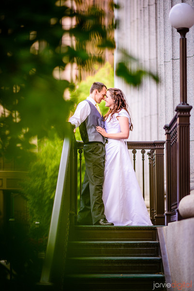 Reception and couple pictures in SLC