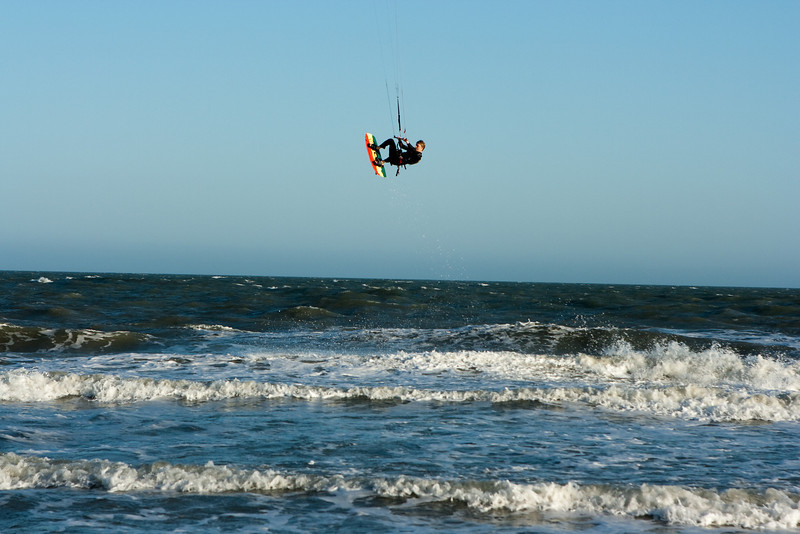 Kitesurfer.