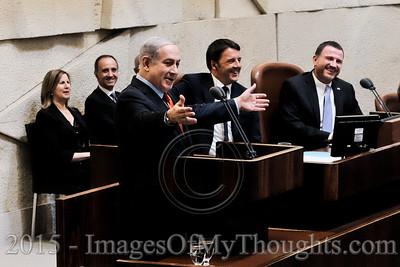 20150722 Italian PM Renzi Visits the Knesset in Jerusalem