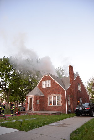 Dearborn - Williamson street - House fire