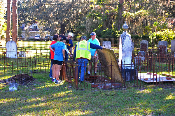 Oak Grove Cemetery Society Cleanup 10-13-18