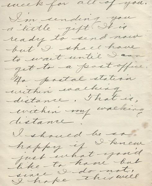 To Joseph Snowdeal from Hazel (?) June 4 1939 Response to a Graduation Invitation
