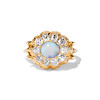 Victorian Opal and Old Mine Cut Diamond Cluster Ring 32