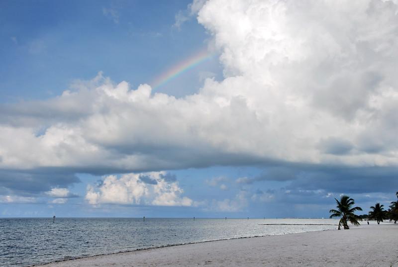 Rainbow over Smathers Beach