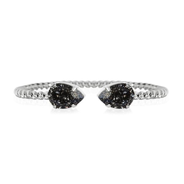Mini Drop bracelet / Black Patina / Rhodium