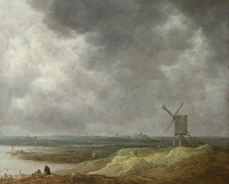 A Windmill by a River