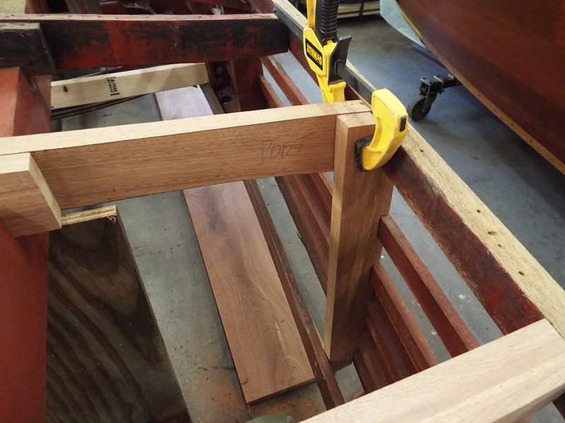 Third new side frame forward of the transom fit.