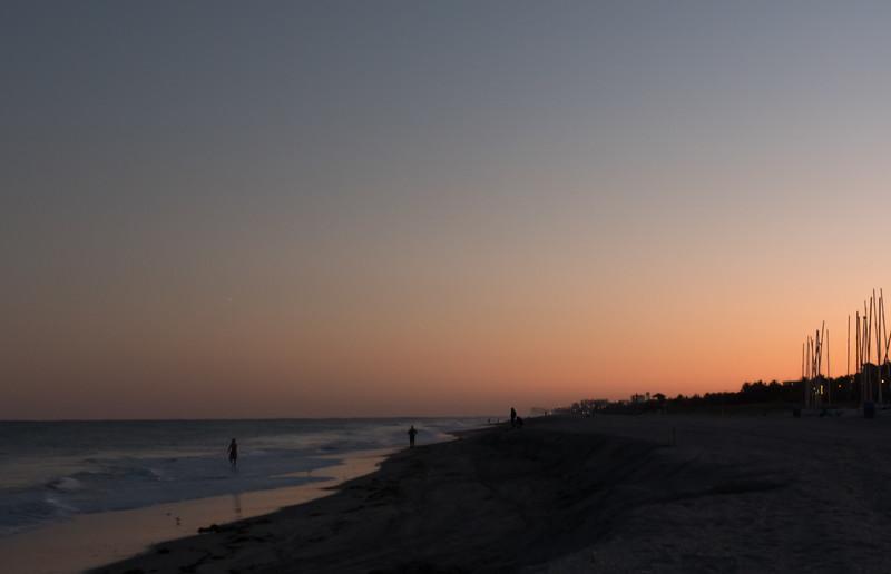 january beach evening