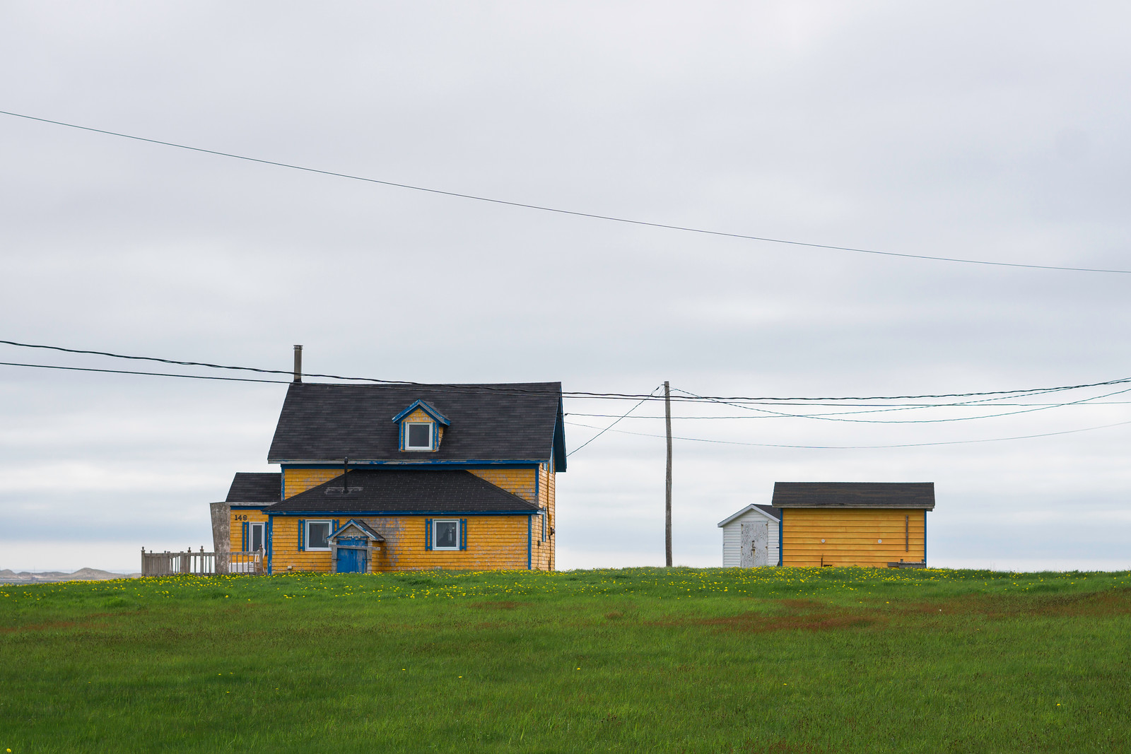 Standing out in the English community of Grosse-Île.
