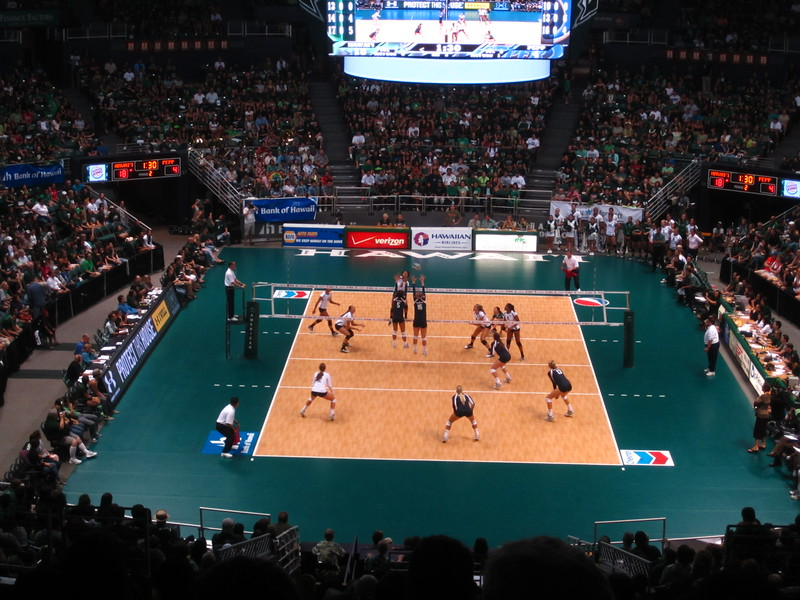 Hawaii - Wahine Volleyball Game-5.JPG