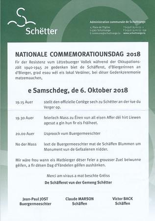 Commemoratiounsdag 2018
