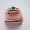 1.75ctw Cab Sapphire and Old European Cut Diamond 3-stone Ring 35