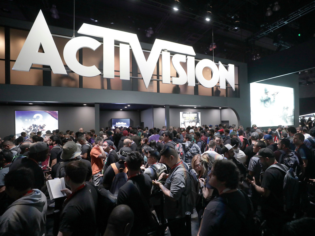 . IMAGE DISTRIBUTED FOR ACTIVISION - A general view of atmosphere at the Activision booth during E3 2017 at the Los Angeles Convention Center on Tuesday, June 13, 2017, in Los Angeles. (Photo by Colin Young-Wolff/Invision for Activision/AP Images)