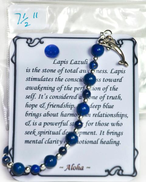 Lapis Lazuli with dolphin pendant