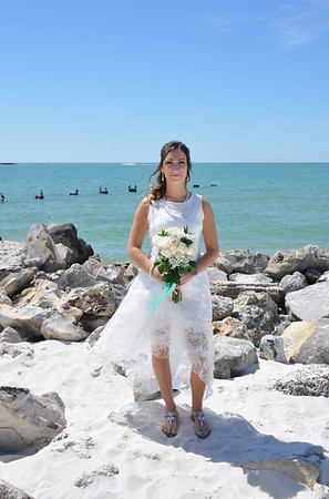Beautiful intimate wedding at Clearwater Beach, FL