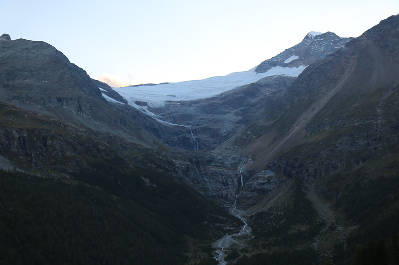 View of Piz Palu and glaciers from Albergo Belvedere