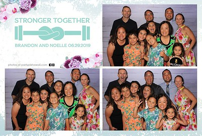 Brandon & Noelle's Wedding (LED Dazzle Photo Booth)