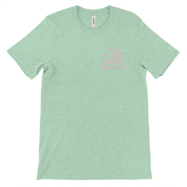 Organ Mountain Outfitters - Outdoor Apparel - Unisex T-Shirt - Elevation Tee - Heather Prism Mint Front.jpg